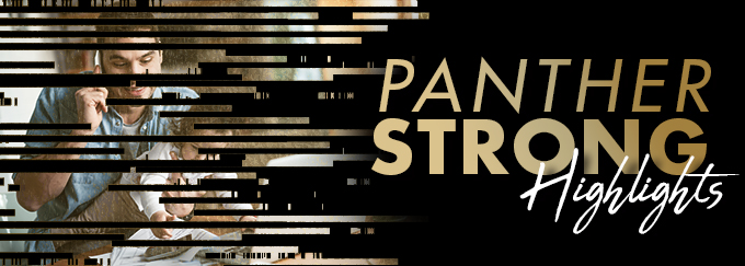 Panther Strong Highlights Decorative Banner