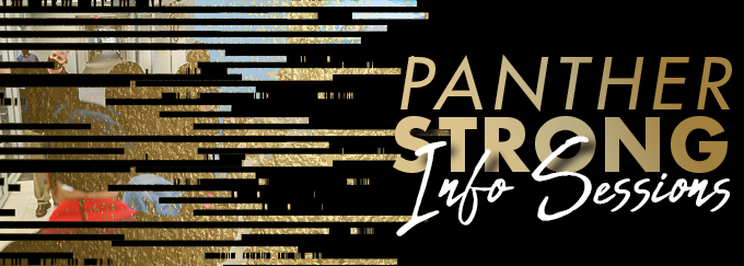 Panther Strong Info Sessions Decorative Banner