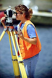surveyor at work