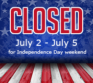 Closed July2-5