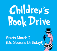 Children's Book Drive in honor of Dr. Seuss's birthday