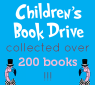 Book drive collected over 200 books!