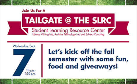 Tailgate @ the SLRC on Sept. 7 from 11-1:30!