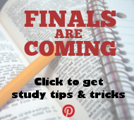 Get study tips for finals from our Pinterest board!