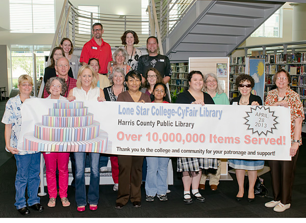 LSC-CyFair Library checks out 10 millionth book