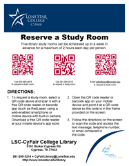 QR code study room request