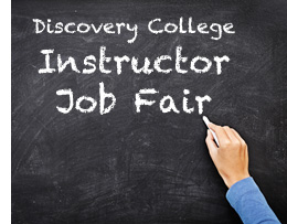 Discovery College Instructor Job Fair