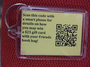 Friends book bag contest QR code