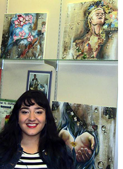 Lyvia Alvarez and her upcycled art