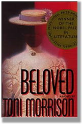 Book jacket of Beloved with Nobel Prize seal