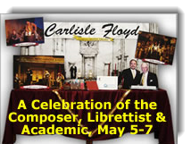 Flier for Carlisle Floyd celebration