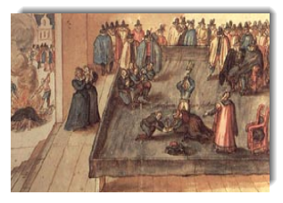 The execution of Mary, Queen of Scots, February 8, 1587