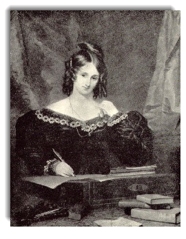 Mary Shelley, from the painting by S. J. Stump