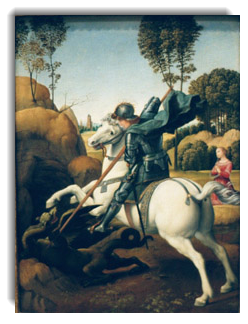 St. George and the Dragon by Raphael, 1506