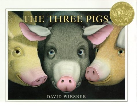 The Three Pigs by David Wiesner book cover