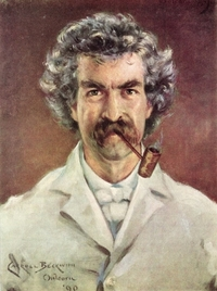 Portrait of Mark Twain by Carroll Beckwith, 1890