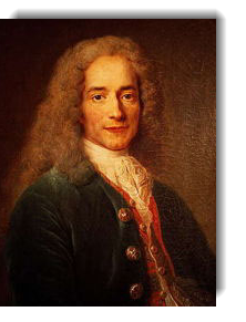 Portrait of Voltaire by Nicolas de Largilliere, 1718