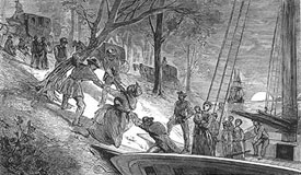 Fugitive slaves on boat