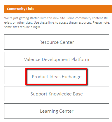 Product Ideas Exchange button is highlighted.