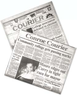 conroe courier newspaper photo