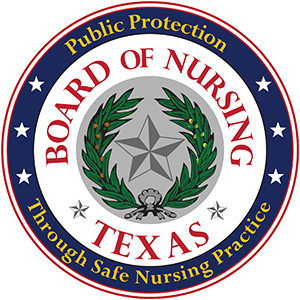 Texas Board of Nursing Seal
