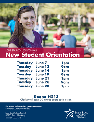 New Student Orientation Tomball June