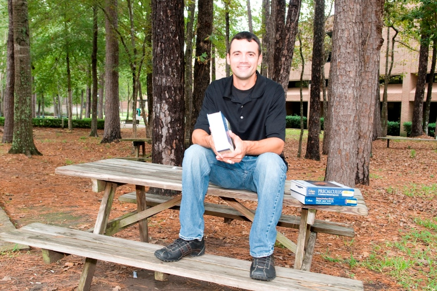 Philip Boxley, LSC-Kingwood student, is a veteran of the U.S. Army and is attending school in part because of the benefits of the Post 9/11 GI Bill. (Photo by Ronda Meuwissen)