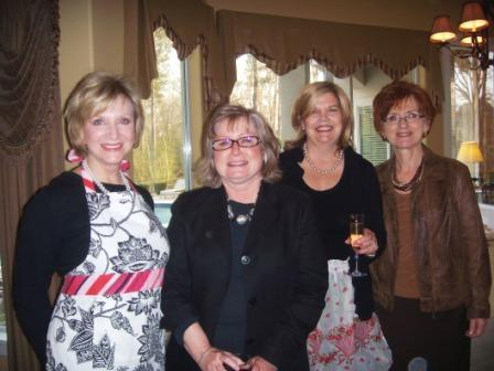 Pictured, from left are Rebecca Riley, vice president of instruction at LSC- Kingwood; Susan Ouren, professor of interior design at LSC-Kingwood; Joiner, StarGala co-chair, Joiner Partnership, Inc.; and Diane Sconzo at the Party with a Purpose.