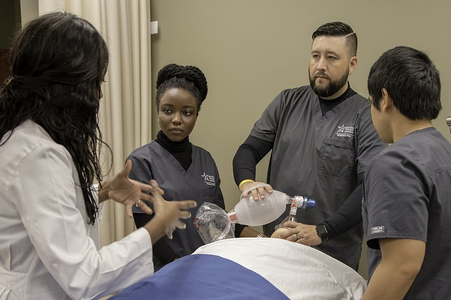 Image of Respiratory care student