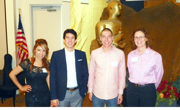 LSC-CyFair scholarship recipients Dana Ashrawi, Andrew Payne, Rebeca Perales and Thomas Schroeder
