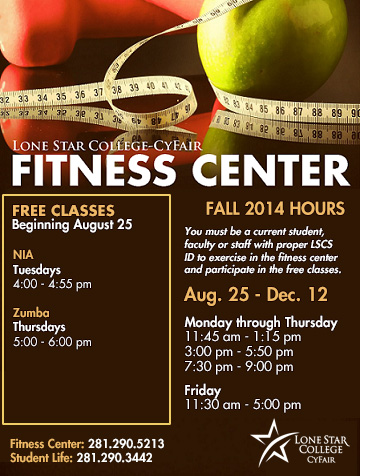 Fitness Center Classes and Hours