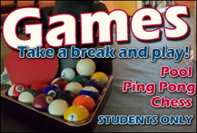 Games - What we offer in our immediate area