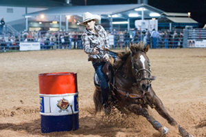 Lauren Sparks barrel racing