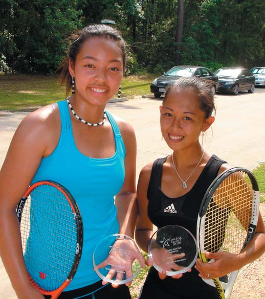 two women with tennis rackets