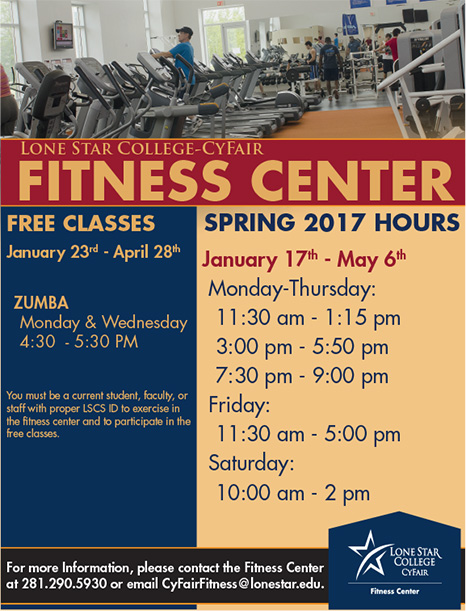 Fitness Center Hours - Spring 2017