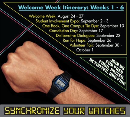 Welcome Week Itinerary