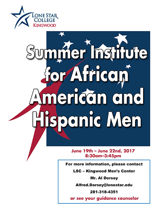 Summer Institute for African American and Hispanic Men