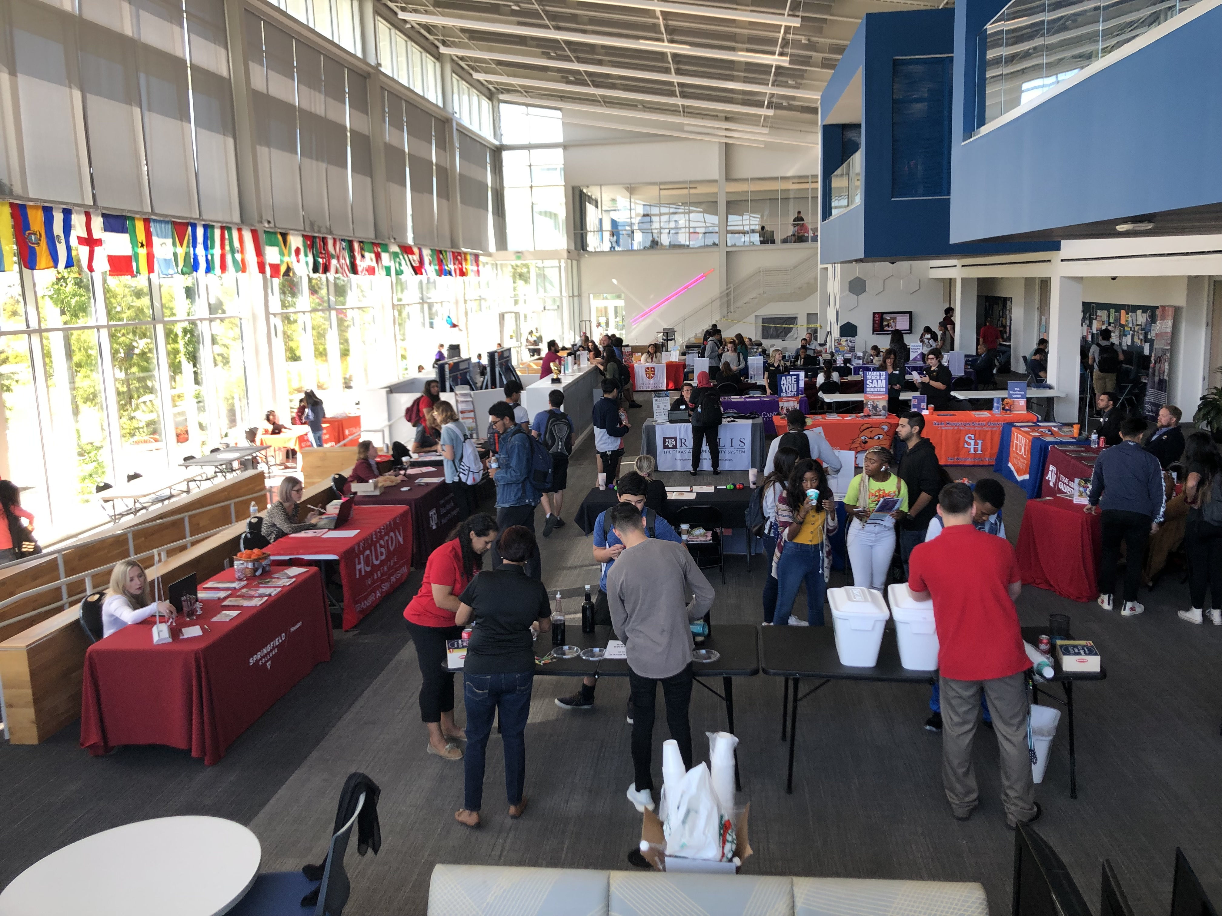 University Tables and Students at Oct 24th Transfer Fair