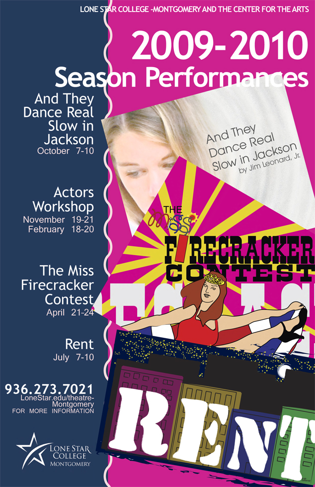 2009-2010 Theatre Season Performance Poster