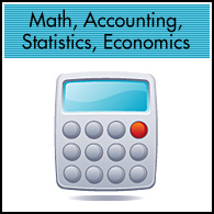 Math, Accounting, Statistics, Economics