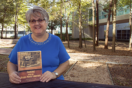 "LSC-University Park adjunct professor Elizabeth Ethredge edited ""Cooking with the Texas Poets Laureate."""