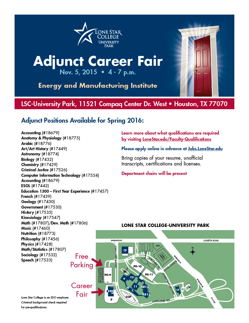 Adjunct Fair Flier with map