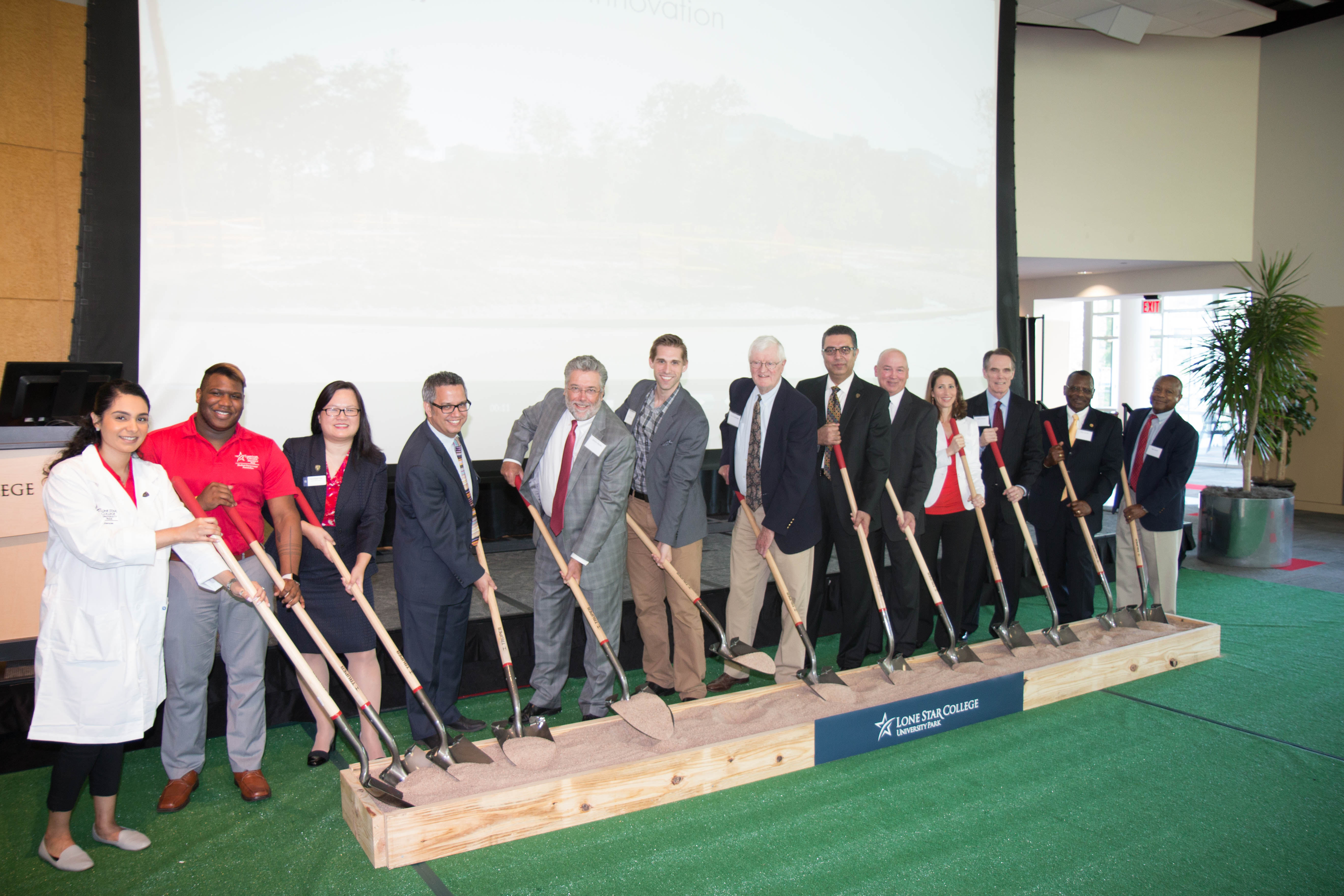 Ground Breaking VIP's with Shovels
