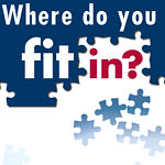 "Image of puzzle pieces with text ""Where do you fit in?"""