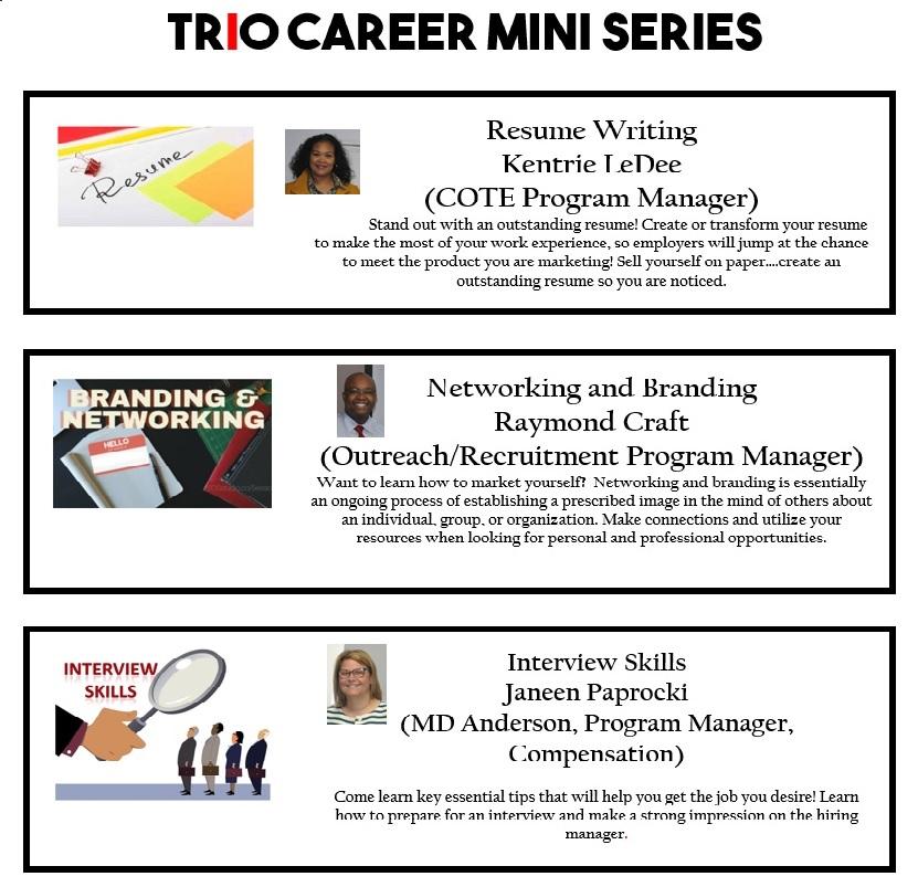 2018 TRiO Career Mini Series