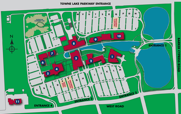 Lone Star College-CyFair Campus Map