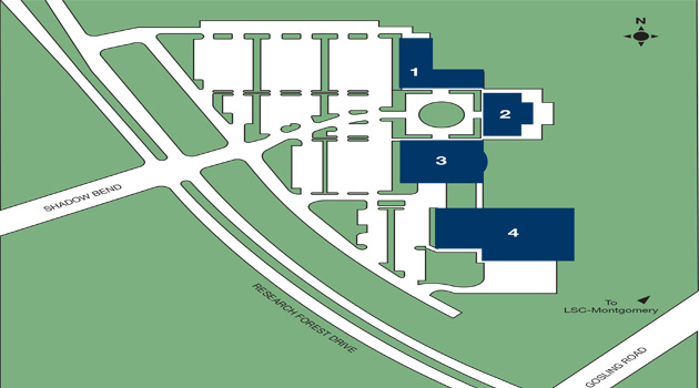 lone star campus map Lsc System Office Maps lone star campus map