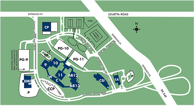 lone star campus map Lsc University Park Maps lone star campus map