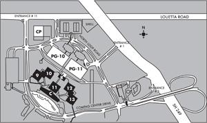 the LSC-University Park Map
