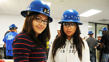 women in hardhats